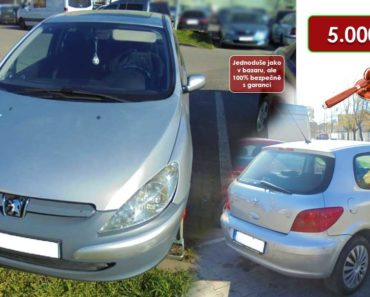 27.10.2020 Dražba automobilu Peugeot 307. Vyvolávací cena 5.000 Kč, ➡️ ID752356