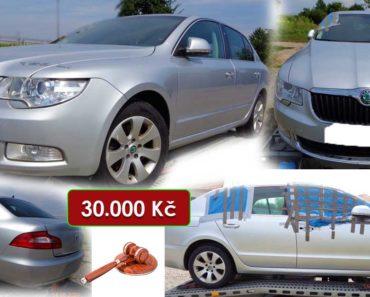 27.10.2020 Dražba automobilu Škoda Superb. Vyvolávací cena 30.000 Kč, ➡️ ID751343