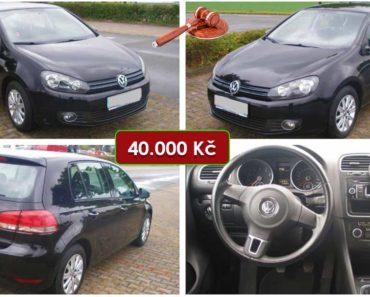 8.10.2020 Aukce automobilu VW Golf. Vyvolávací cena 40.000 Kč, ➡️ ID752861
