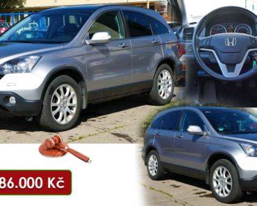 4.10.2020 Dražba automobilu Honda CR-V 2.2 i-CTDi. Vyvolávací cena 186.000 Kč, ➡️ ID752404