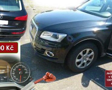 30.10.2020 Dražba automobilu Audi Q5. Vyvolávací cena 160.000 Kč, ➡️ ID748458