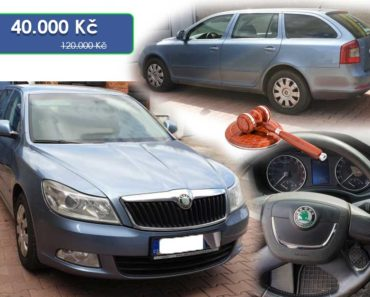 Zisková Dražba Škoda Octavia Combi Ambiente – vydraženo jen za: 96.000 Kč
