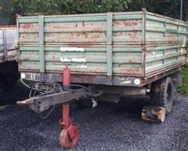 Do 18.11.2020 Výběrové řízení na prodej návěsu - traktorový jednonápravový. Min. kupní cena 10.000 Kč, ➡️ ID758807