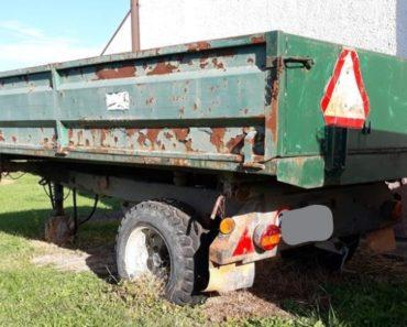 Do 18.11.2020 Výběrové řízení na prodej návěsu - traktorový sklápěcí. Min. kupní cena 10.000 Kč, ➡️ ID758783