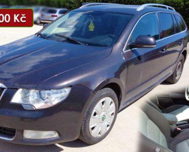 24.11.2020 Dražba automobilu Škoda Superb. Vyvolávací cena 33.000 Kč, ➡️ ID755808