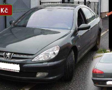 12.11.2020 Dražba automobilu Peugeot 607. Vyvolávací cena 12.000 Kč, ➡️ ID755745