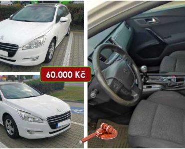 13.11.2020 Dražba automobilu Peugeot 508 SW. Vyvolávací cena 60.000 Kč, ➡️ ID754478