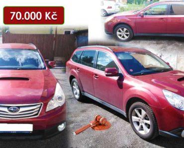 11.11.2020 Aukce automobilu Subaru Outback 2.0 D. Vyvolávací cena 70.000 Kč, ➡️ ID761554
