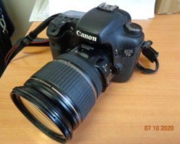 10.11.2020 Dražba ostatních movitých věcí (Fotoaparát Canon EOS 7D s objektivem). Vyvolávací cena 6.454 Kč, ➡️ ID756434
