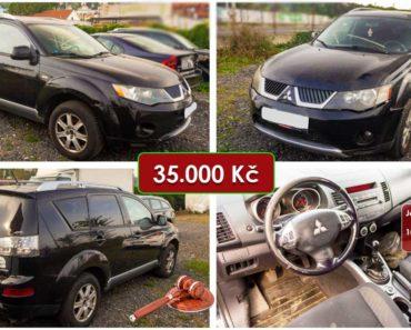 19.11.2020 Dražba automobilu Mitsubishi Outlander Intense 2.0 DI-D. Vyvolávací cena 35.000 Kč, ➡️ ID759559