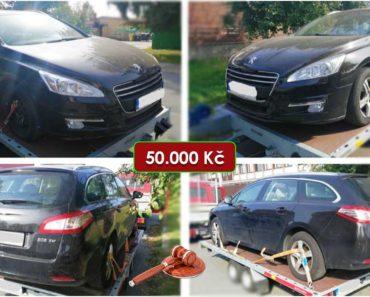 13.11.2020 Dražba automobilu Peugeot 508 SW. Vyvolávací cena 50.000 Kč, ➡️ ID754508