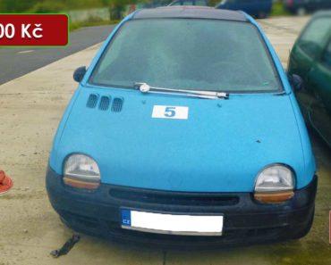 12.11.2020 Dražba automobilu Renault Twingo. Vyvolávací cena 300 Kč, ➡️ ID756284