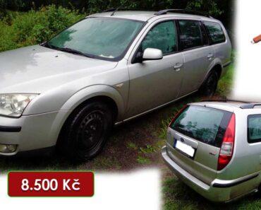 2.2.2021 Dražba automobilu Ford Mondeo. Vyvolávací cena 8.500 Kč, ➡️ ID768348