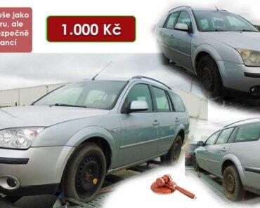 2.2.2021 Dražba automobilu Ford Mondeo. Vyvolávací cena 1.000 Kč, ➡️ ID768159