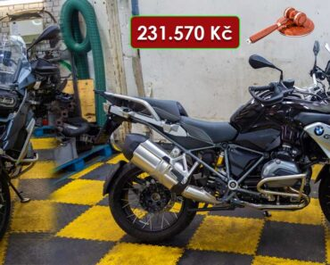 18.12.2020 Dražba motocyklu BMW R 1200 GS. Vyvolávací cena 231.570 Kč, ➡️ ID766394