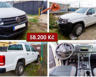18.12.2020 Dražba automobilu VW Amarok Double Cab. Vyvolávací cena 58.200 Kč, ➡️ ID769580