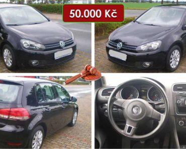 20.1.2021 Aukce automobilu VW Golf. Vyvolávací cena 50.000 Kč, ➡️ ID769732
