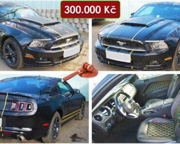 13.2.2021 Dražba automobilu Ford Mustang. Vyvolávací cena 300.000 Kč, ➡️ ID776172