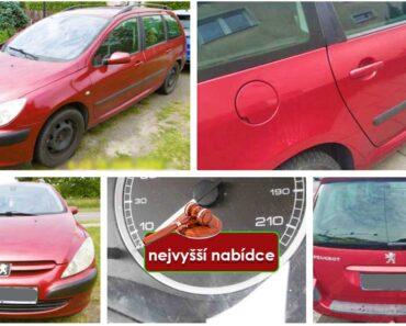 Do 12.2.2021 Výběrové řízení na prodej automobilu Peugeot 307. Min. kupní cena - prodej nejvyšší nabídce Kč, ➡️ ID776161