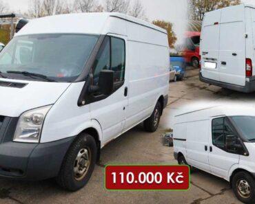 13.2.2021 Dražba automobilu Ford Transit 350 M. Vyvolávací cena 110.000 Kč, ➡️ ID774069