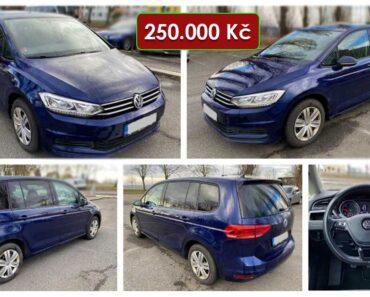 Zisková Dražba VW Touran – vydraženo jen za: 350.000 Kč