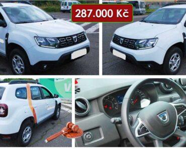13.2.2021 Dražba automobilu Dacia Duster. Vyvolávací cena 287.000 Kč, ➡️ ID776525
