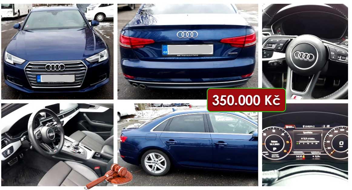 9.2.2021 Dražba automobilu Audi A4 2.0 TDi Quattro Stronic sport. Vyvolávací cena 350.000 Kč, ➡️ ID778277