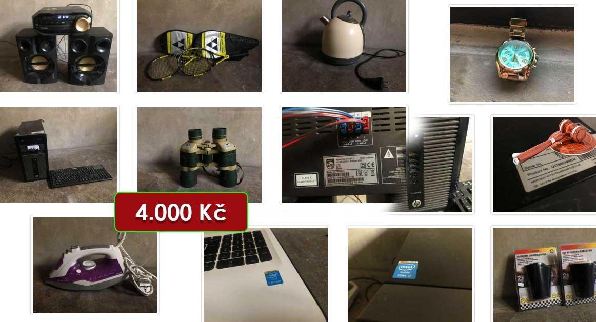 22.2.2021 Dražba elektroniky (Notebook HP 15, žehlička, konvice, počítač HP ProDesk, dalekohled, hodinky a další). Vyvolávací cena 4.000 Kč, ➡️ ID777720