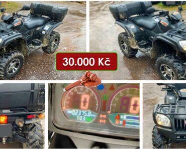 17.2.2021 Dražba čtyřkolky JourneyMan Gladiator RX510. Vyvolávací cena 30.000 Kč, ➡️ ID776211
