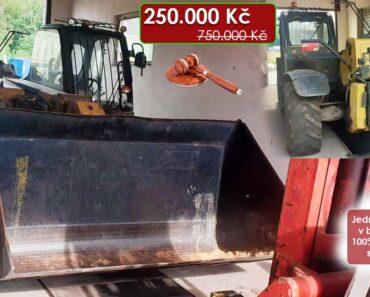 3.2.2021 Dražba stroje Caterpillar TH407. Vyvolávací cena 250.000 Kč, ➡️ ID777955