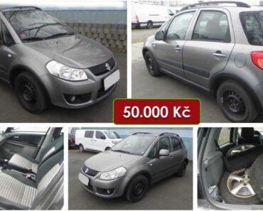 13.2.2021 Dražba automobilu Suzuki SX4 1.6. Vyvolávací cena 50.000 Kč, ➡️ ID776216