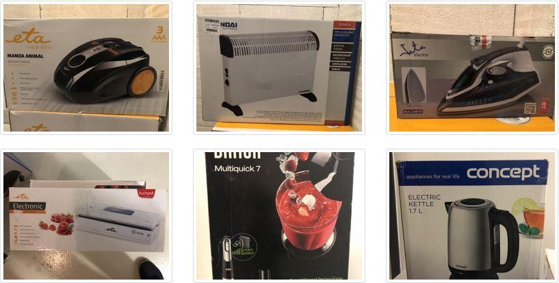 11.3.2021 Dražba elektroniky (Vysavač, žehlička, varná konvice, mixér,...). Vyvolávací cena 2.800 Kč, ➡️ ID787314