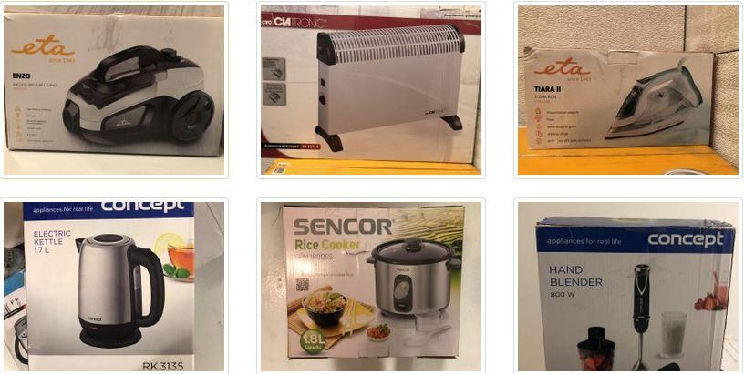 11.3.2021 Aukce elektroniky (Vysavač, konvektor, žehlička, rýžovar ...). Vyvolávací cena 2.500 Kč, ➡️ ID787322