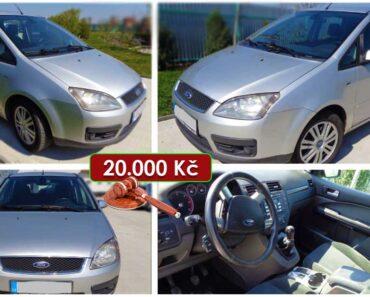 Zisková Dražba Ford Focus C-Max – vydraženo jen za: 30.400 Kč