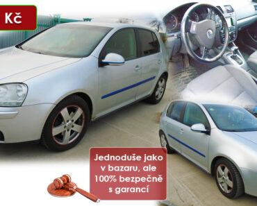 Zisková Dražba VW Golf TDI – vydraženo jen za: 40.600 Kč
