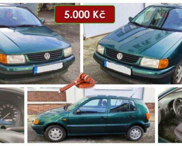 25.3.2021 Dražba automobilu VW Polo 1.4. Vyvolávací cena 5.000 Kč, ➡️ ID784384