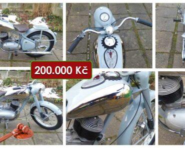 12.3.2021 Aukce motocyklu Ogar 350. Vyvolávací cena 200.000 Kč, ➡️ ID786935