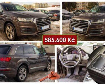 23.3.2021 Dražba automobilu Audi Q73.0 TDI Quattro. Vyvolávací cena 585.600 Kč, ➡️ ID785579