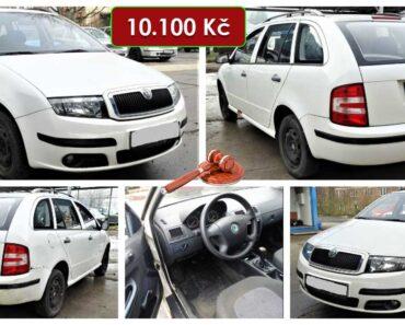 Do 14.3.2021 Aukce automobilu Škoda Fabia combi 1.4. Vyvolávací cena 10.100 Kč, ➡️ ID786910