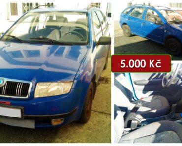8.4.2021 Dražba automobilu Škoda Fabia Combi 1.4 MPi. Vyvolávací cena 5.000 Kč, ➡️ ID789049