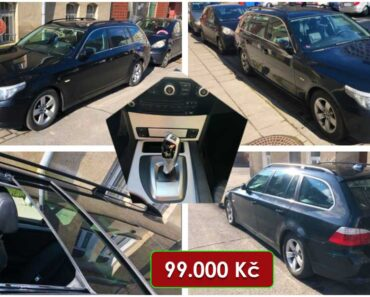 20.4.2021 Dražba automobilu BMW 525d. Vyvolávací cena 99.000 Kč, ➡️ ID793318