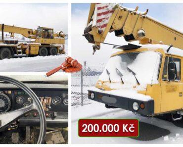 19.4.2021 Dražba vozidla - jeřáb TATRA T815. Vyvolávací cena 200.000 Kč, ➡️ ID793317