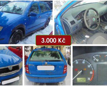13.4.2021 Dražba automobilu Škoda Fabia 1.2. Vyvolávací cena 3.000 Kč, ➡️ ID789051