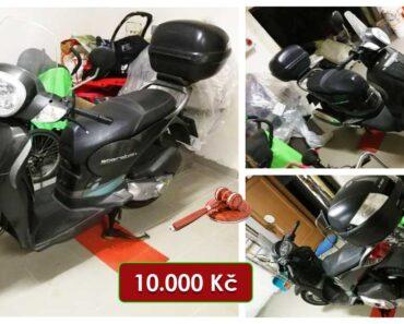 7.4.2021 Dražba motocyklu Aprilia Scarabeo. Vyvolávací cena 10.000 Kč, ➡️ ID788801