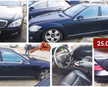 16.7.2021 Dražba automobilu Mercedes-Benz S 500. Vyvolávací cena 25.000 Kč, ➡️ ID791278