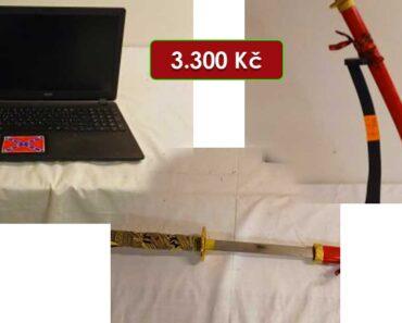 28.4.2021 Dražba ostatních movitých věcí (televizor, notebook, meč - atrapa). Vyvolávací cena 3.300 Kč, ➡️ ID793096
