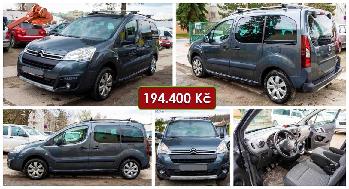 20.5.2021 Dražba automobilu Citroën Berlingo Multispace 1.6 BlueHDi. Vyvolávací cena 194.400 Kč, ➡️ ID798452