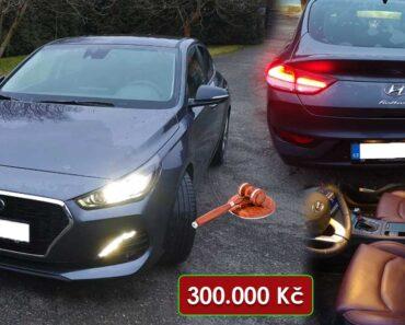11.5.2021 Aukce automobilu Hyundai i30. Vyvolávací cena 300.000 Kč, ➡️ ID798697