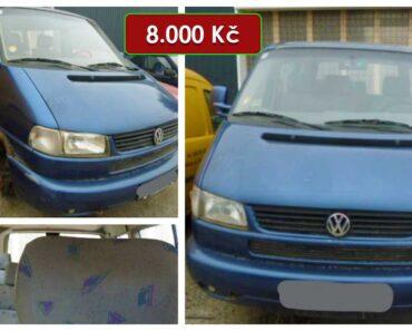 7.5.2021 Dražba automobilu Volkswagen Caravelle. Vyvolávací cena 8.000 Kč, ➡️ ID797180