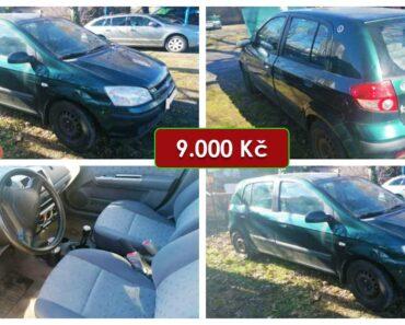 27.5.2021 Dražba automobilu Hyundai Getz. Vyvolávací cena 9.000 Kč, ➡️ ID800536